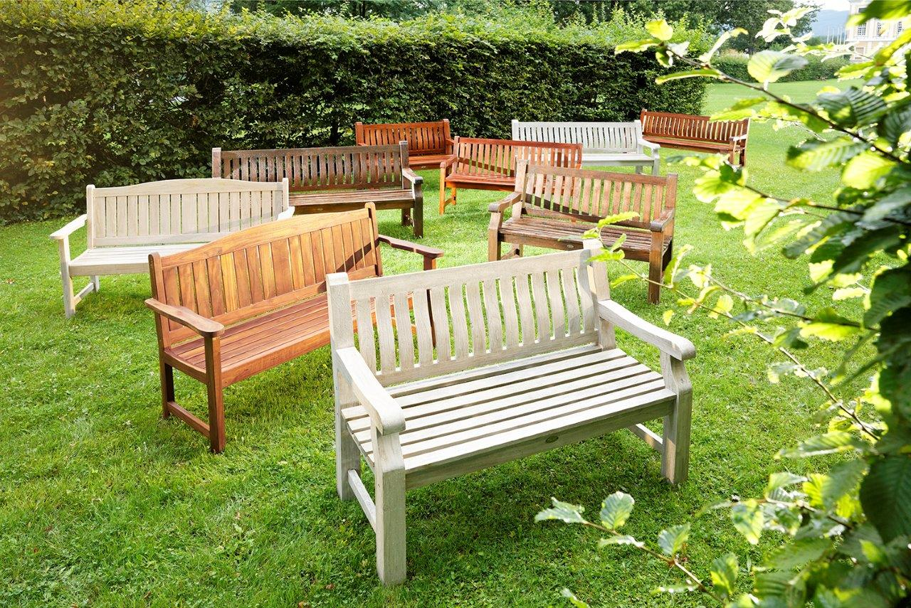 Byron Bank 150 cm Recycled Teak Natur