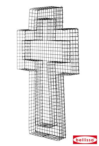 Vorschau: Kreuz-Gitter 50x30x4 cm Kreuzgitter Deko Grabschale Grabgestaltung für Allerheiligen Allerseelen