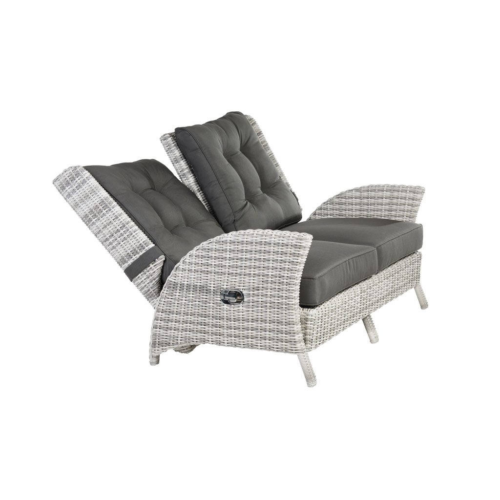 Granada Lounge Komfortsofa (Geflecht/Old White)