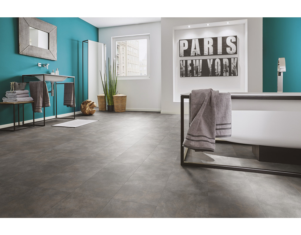 Vinyl V-lyn tile plus Metall oxidiert (1300x320x4,5mm 2,080 qm/Pak.)