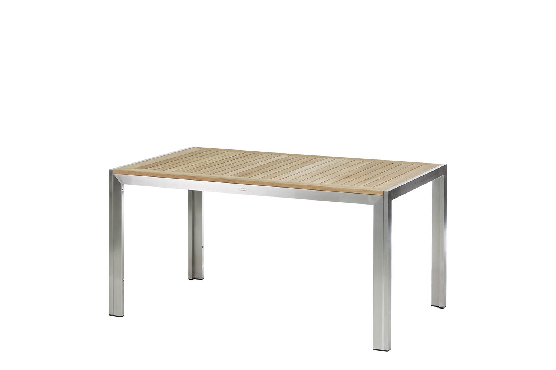Siena Tisch 150 cm Edelstahl/Teak
