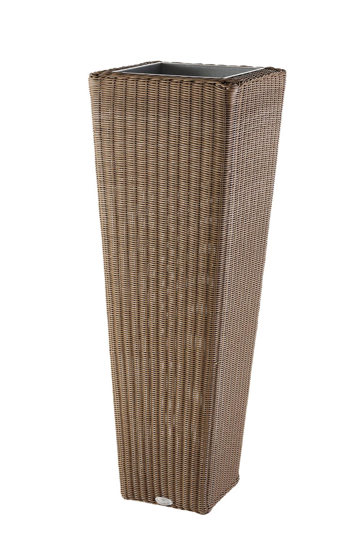 Oslo Blumensäule 120cm Geflecht - (hellbraun)