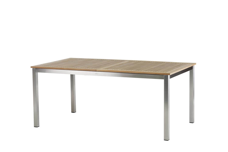 Roma Tisch 180 ? 240 cm Edelstahl/Teak