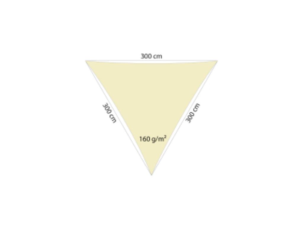 Sonnensegel sand 180 g / qm (500 x 500 x 500)