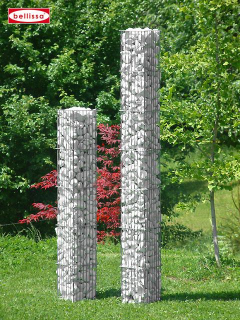 Steinsäule 2tlg. eckig 20 x 20 x 125 cm
