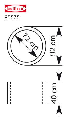 Hochteich Ø 92/72 cm H 40 cm ( inkl. Teichfolie, Trennvlies)