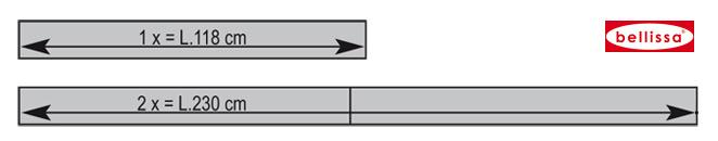 Rasenkante Metall 118 x 13 cm verzinkt