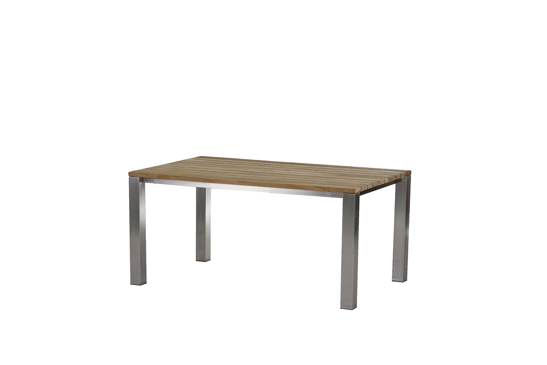 Piero Tisch 160 cm ? Edelstahl/ (Recycled Teak)