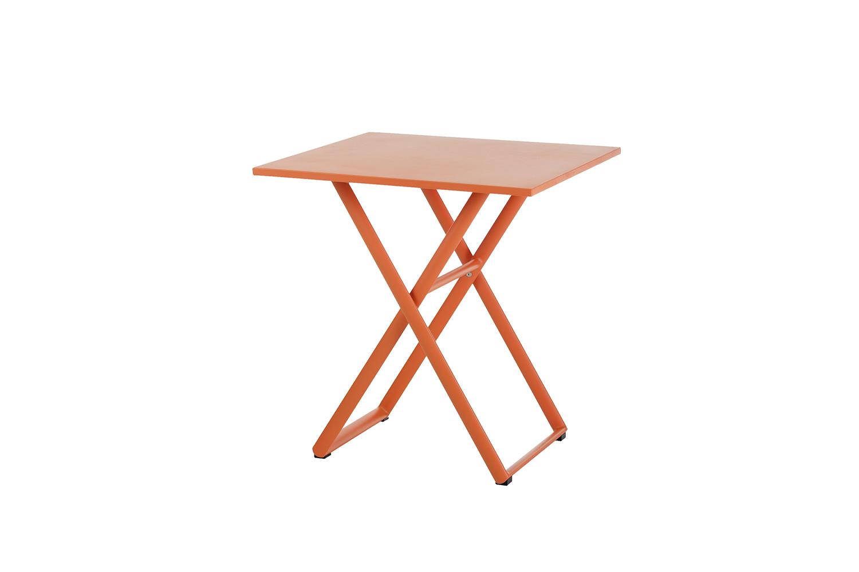 Kingston Klapptisch 70 x 70 cm (Aluminium ? neon orange)