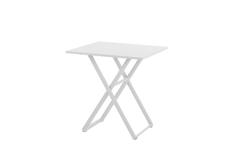 Kingston Klapptisch 70 x 70 cm (Aluminium ? weiß)