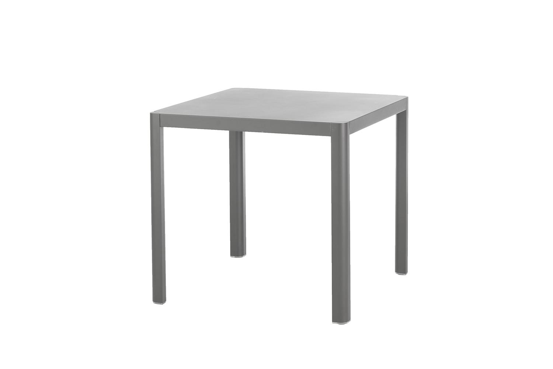 Kingston Tisch 80 x 80 cm (Aluminium ? grau)