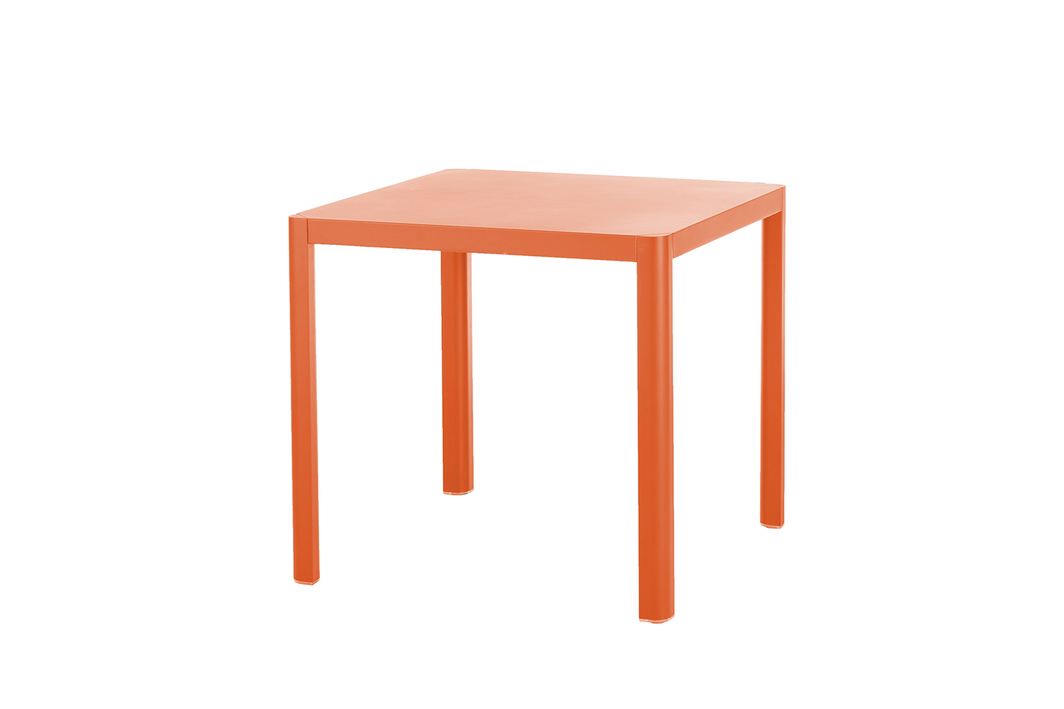 Kingston Tisch 80 x 80 cm (Aluminium ? neon orange)