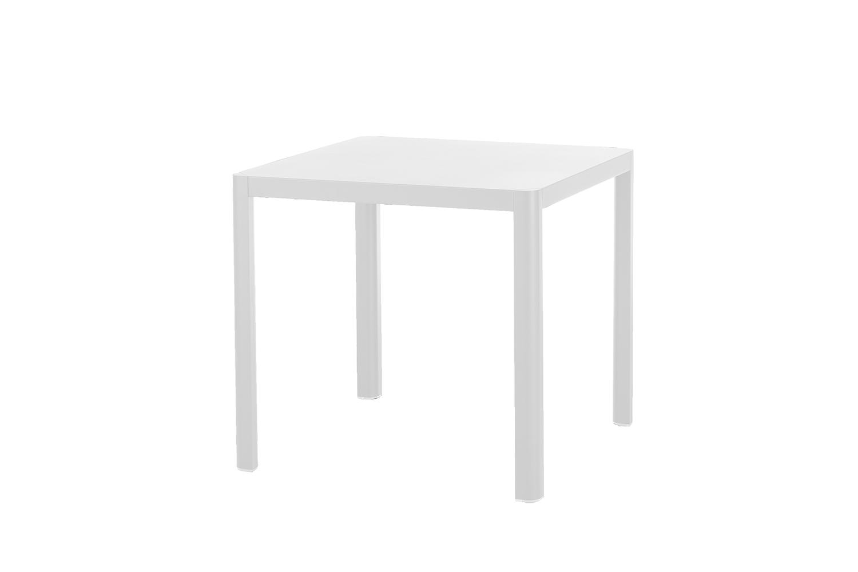 Kingston Tisch 80 x 80 cm (Aluminium ? weiß)