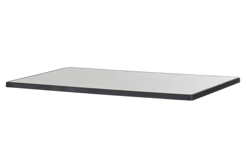 DiGalit Doppeltischplatte 115x70cm - (Metall gebürstet)