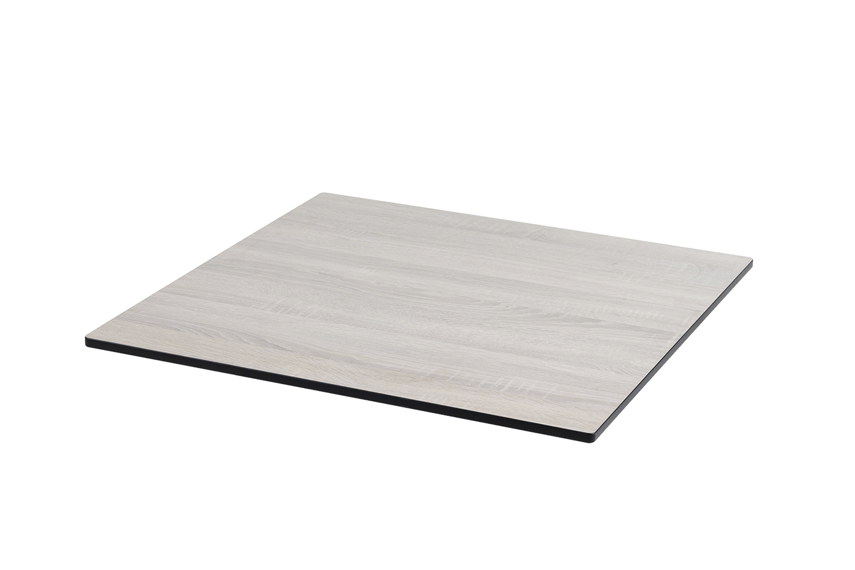 DiGa Compact (HPL) Tischplatte 68x68cm - (Eiche sägerau)