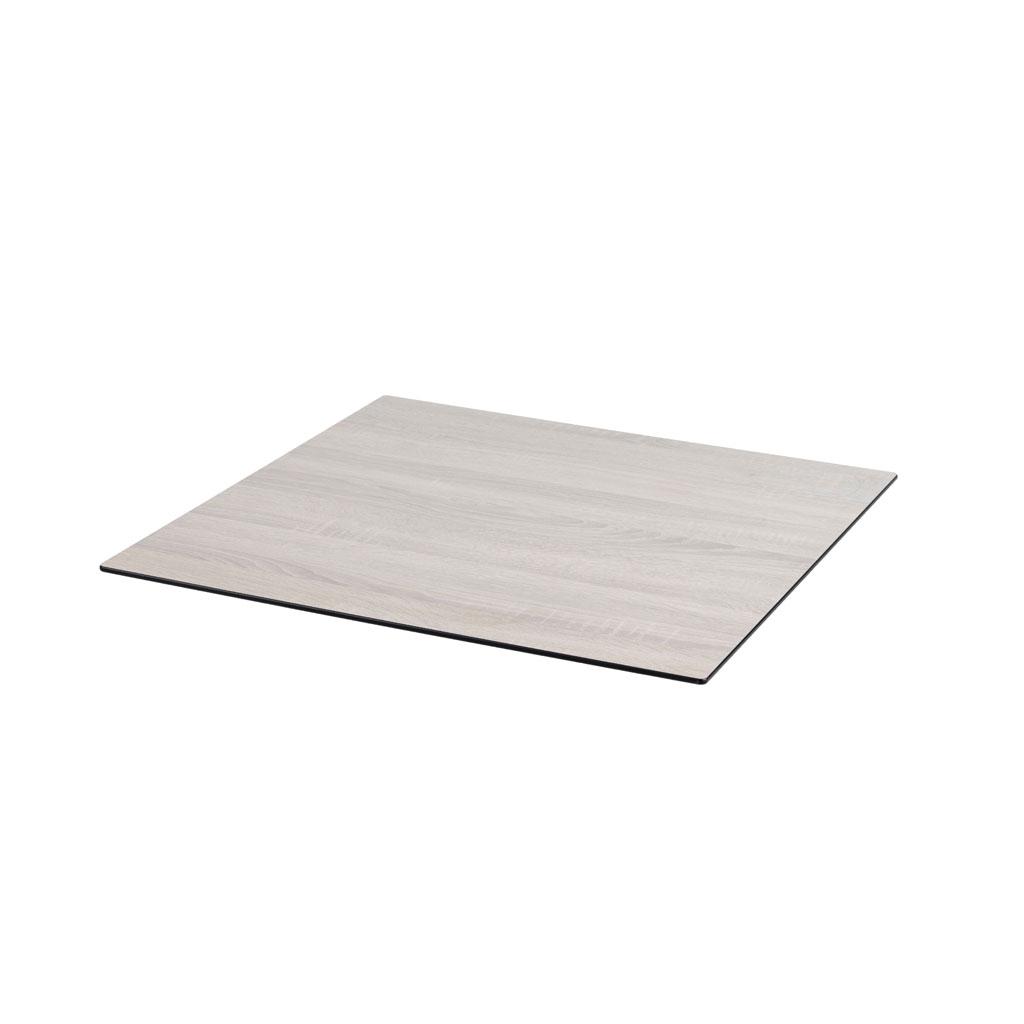 DiGa Compact(HPL) Tischplatte (mit 20° Fase 68x68cm - Eiche sägerau)