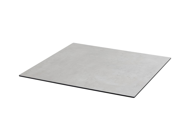 DiGa Compact (HPL) Tischplatte ( mit 20° Fase 68x68cm - Beton hell)
