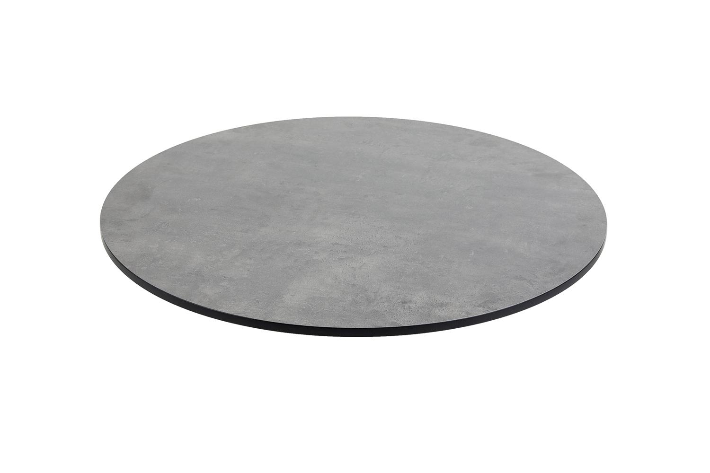 DiGa Compact (HPL) Tischplatte 68cm ( rund - Beton dunkel)