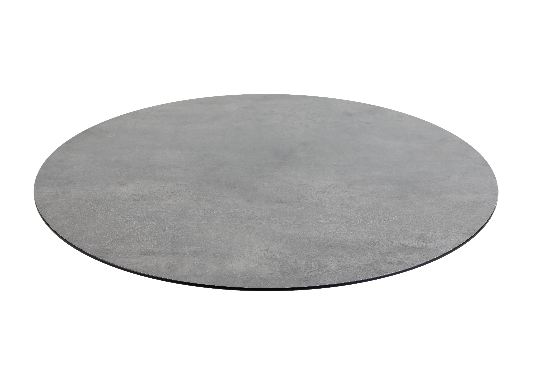 DiGa Compact (HPL) Tischplatte (mit 20° Fase 68cm rund -Beton dunkel)