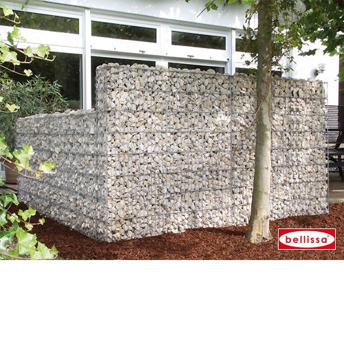 Mauersystem Gabione Basisbausatz limes H 210 cm, T 23 cm, (L 230 cm variabel)