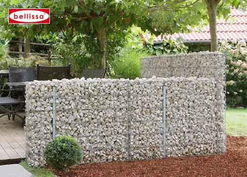 Mauersystem Gabione Basisbausatz limes H 90 cm, T 12 cm, (L 230 cm variabel)