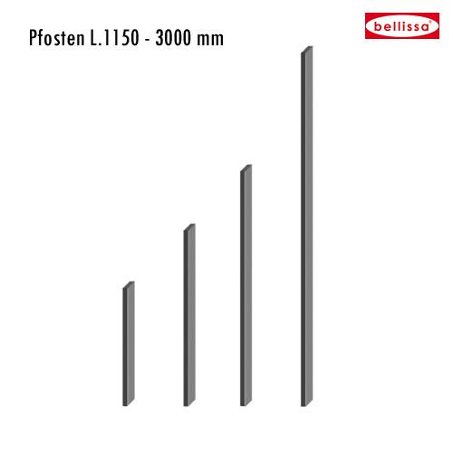 Pfosten 1450x30x100 mm zu Gitter limes (H 1500 mm)