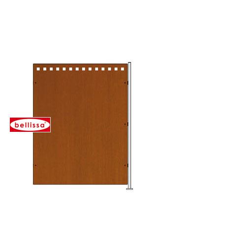 Quadro Anbausatz Edelrost 950x744x1 mm (mit Pfosten und Befestigungsset)