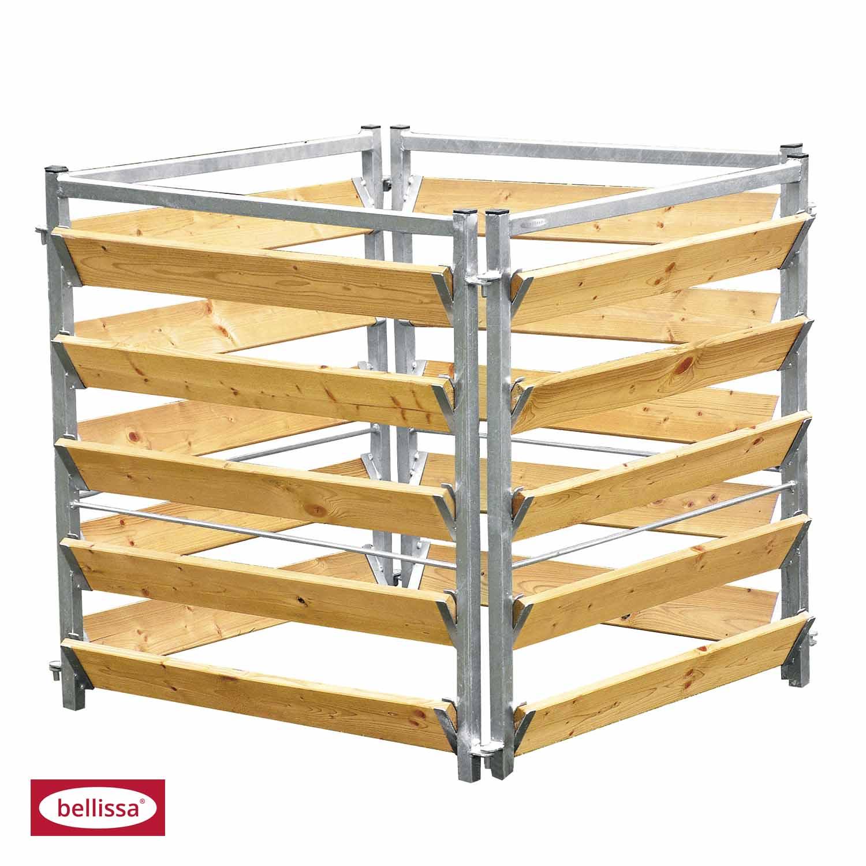 Komposter Holz/Metall 100x100x100 cm ( feuerverzinkt)