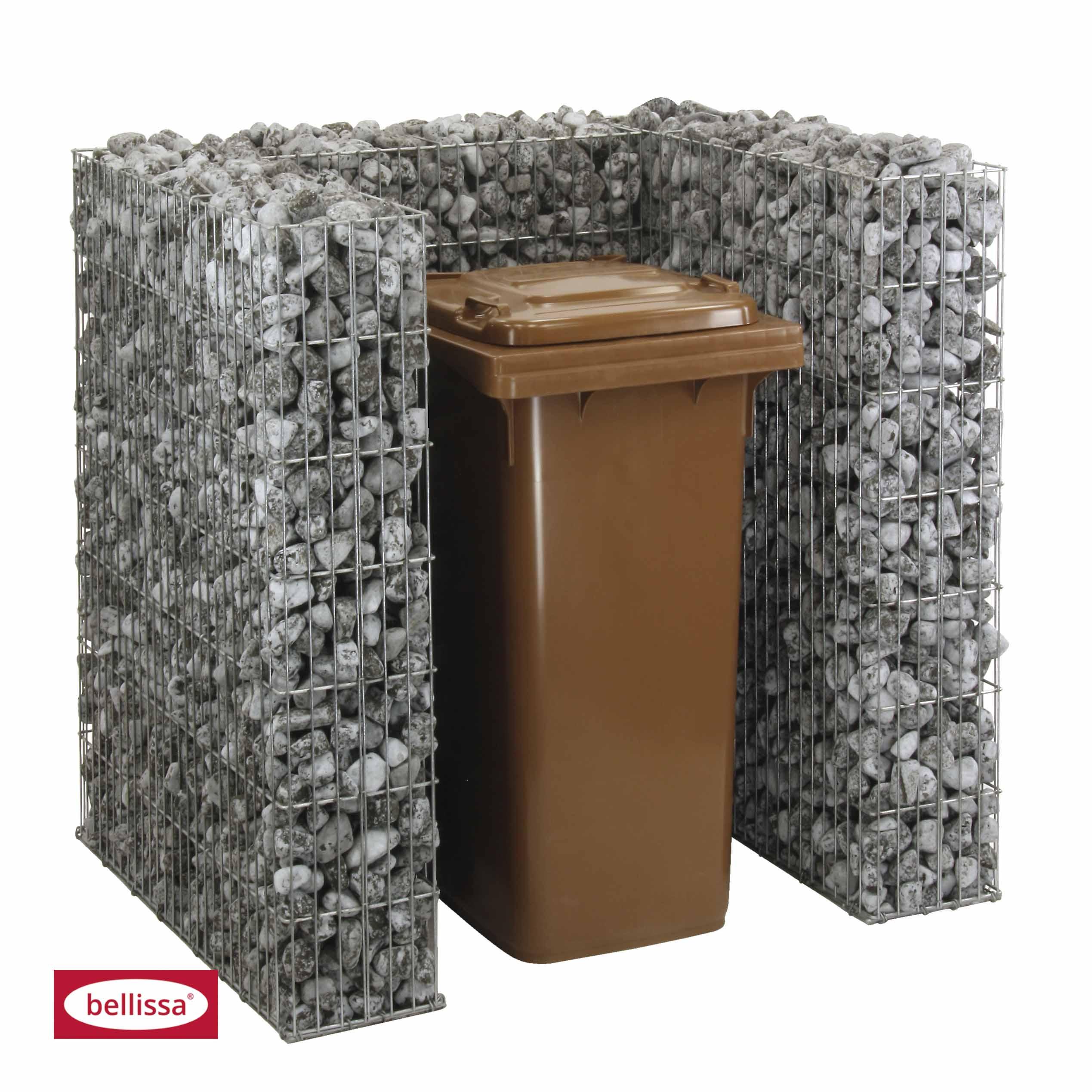 Mülltonnengabionenset für 1 Tonne 101,5x (112x120 cm)