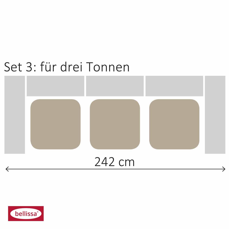 Mülltonnengabioneset für 3 Tonnen 101,5x (242x120 cm)