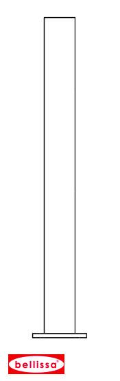 Rohrpfosten mit Flanschplatte 114 x 1150 (x 1,8 mm feuerverzinkt)