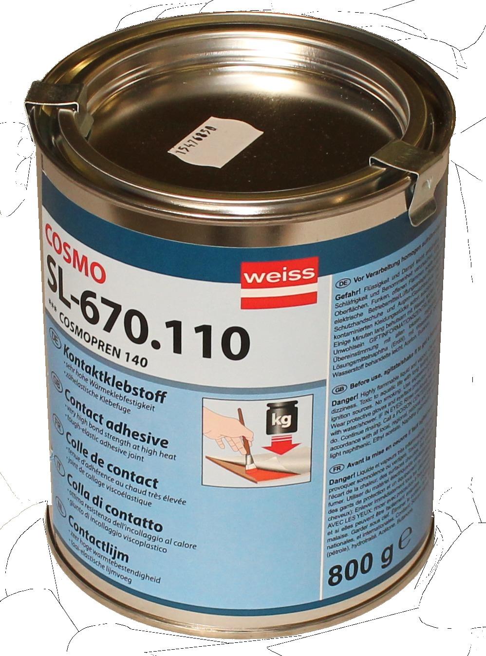 ferax-Kontaktklebstoff 140 Dose 800 g, (temperaturbeständig bis 140°C)