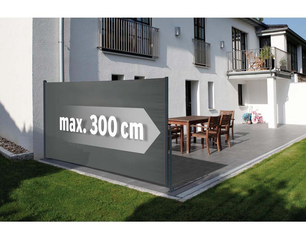 Seitenmarkise grau Basic 160 x 300 cm (160 x 300)