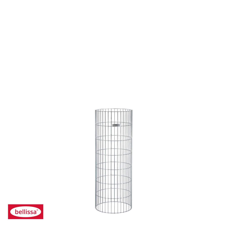 Steinsäule Gabione rund Ø 40x105 cm ohne (Pfosten)