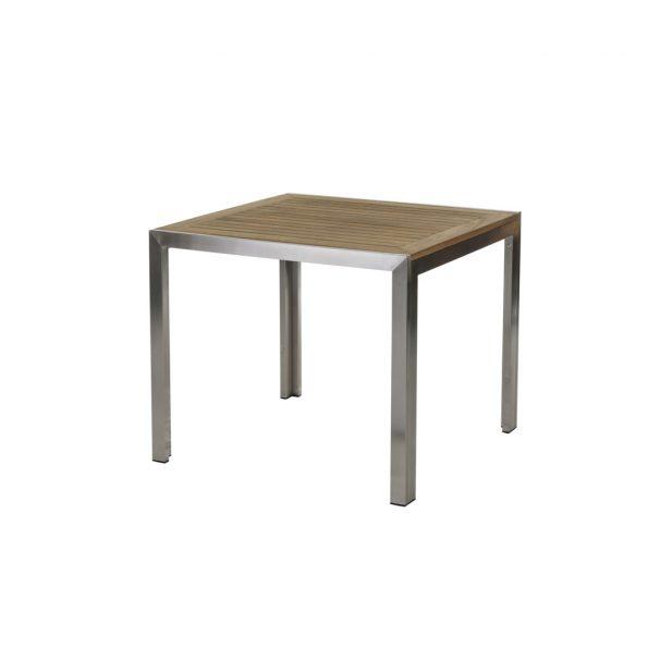 Siena Tisch 90 cm Edelstahl/Teak