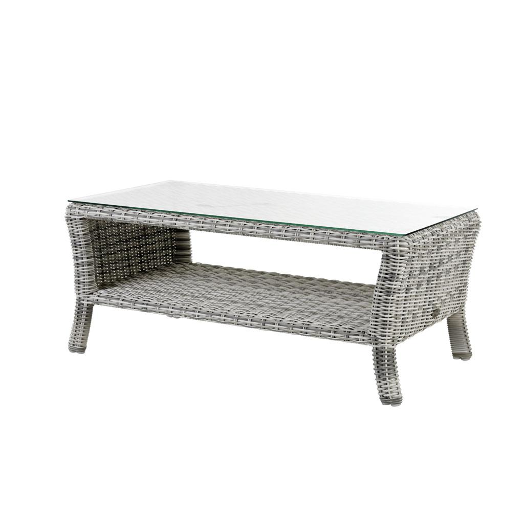 Granada Lounge Loungetisch (Geflecht/Old White)