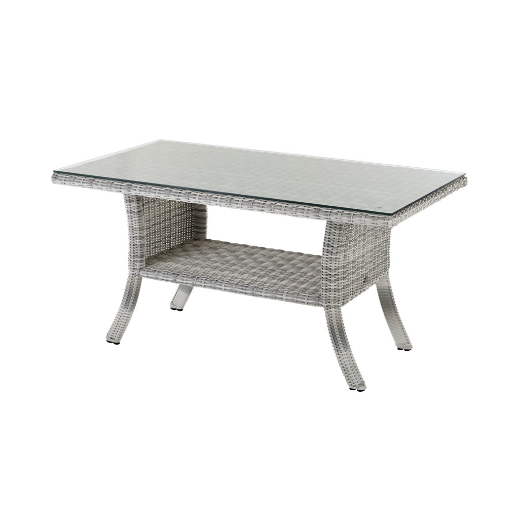 Granada Low Dining Tisch (Geflecht/Old White)