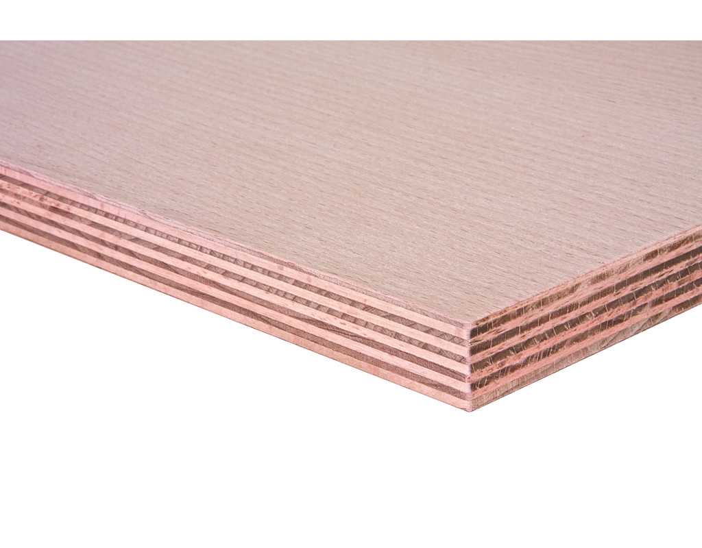 Multiplexplatten Buche, Slowakei, AW100, (Schälfurnier d+d, BB/BB 2500x1500x15 mm)