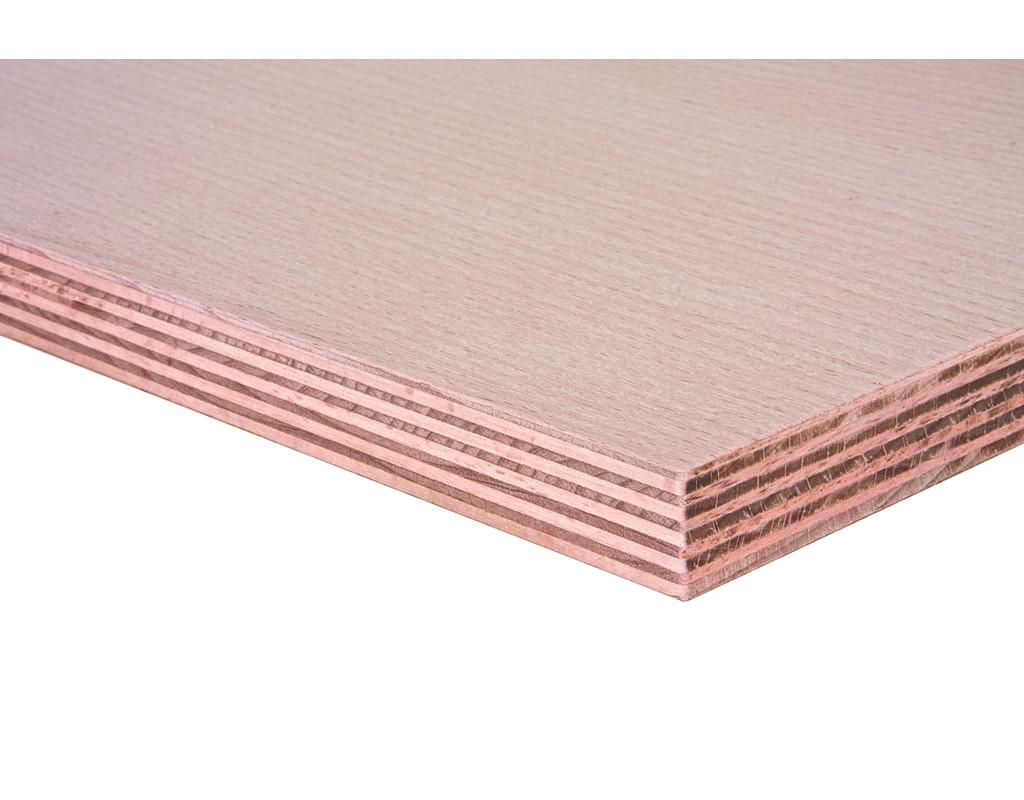 Multiplexplatten Buche, Slowakei, AW100, (Schälfurnier d+d, B/BB 2500x1500x40 mm)