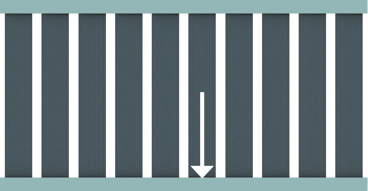 RAJA WPC ALU XL, Alu- Querriegel unten 4x6,5x179cm