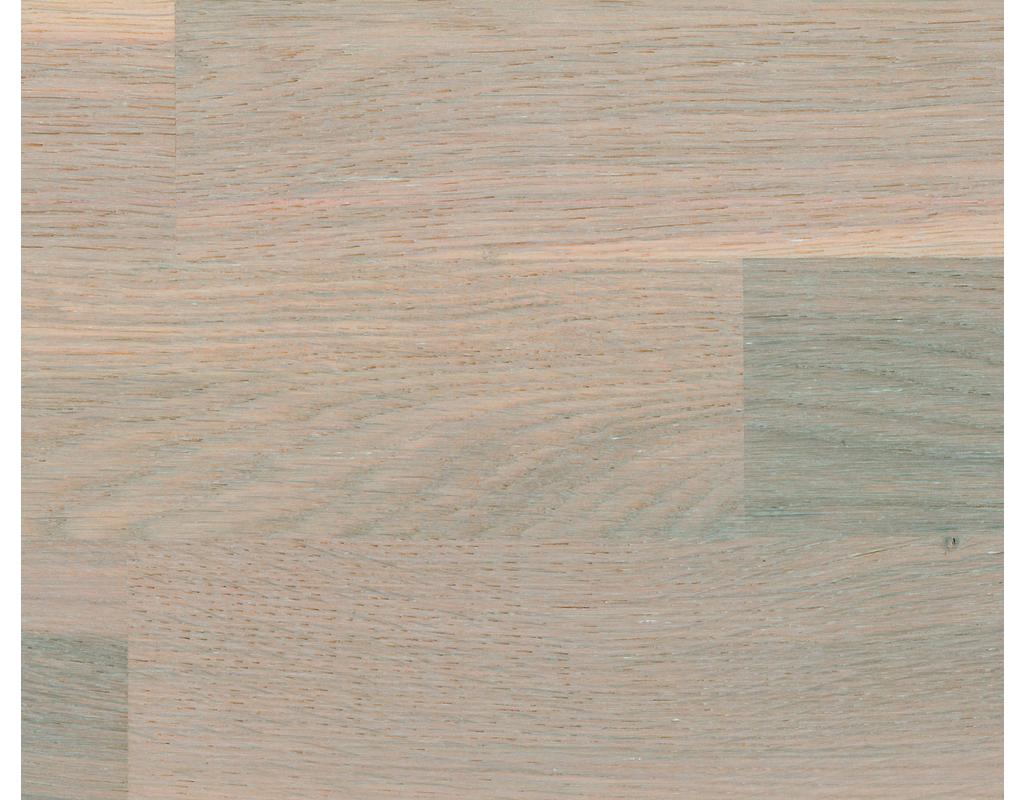 HOLZLOC Holz-Fertigparkett, 3-Stab Eiche rustikal, gebürstet weiß geölt 2200x192x14mm