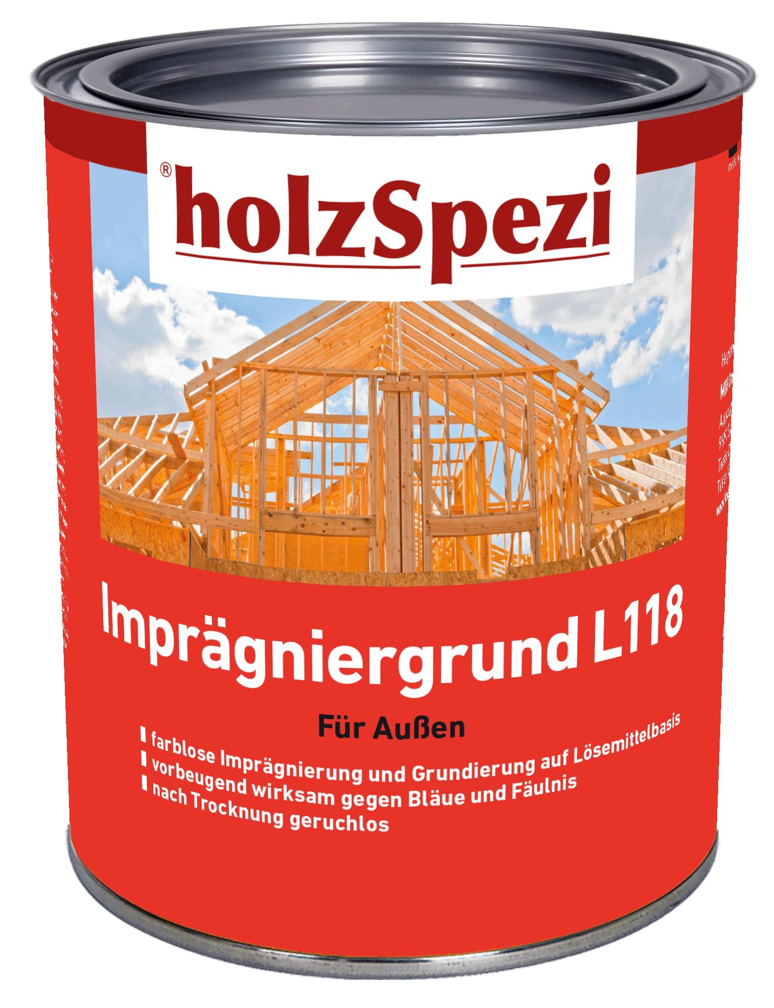 holzSpezi Imprägniergrund L 118 (farblos 0,75 Liter)