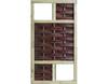 Vorschau: LABO-3D Weidengeflechtzaun 94x180 cm 2 Fenster oben+unten Rahmen 70x35 mm