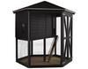 Vorschau: Hühner-Pavillon 6-eckig schwarz farbgrundiert