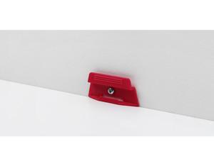 Leistenclip rot für SL 4, SL 5, SL 17, (SL 18 und SL 20, inkl. Schrauben und)