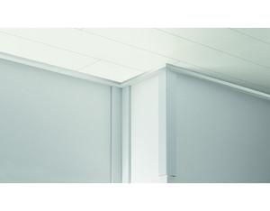 ClickBoard Abschlussleiste Weiß 2580x32x12 mm