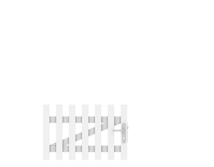 LONGLIFE CARA Tor weiß gerade DIN RE 106x70cm