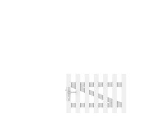 LONGLIFE CARA Tor weiß gerade DIN LI 106x70cm
