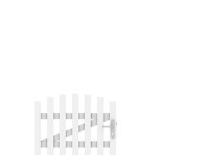 LONGLIFE CARA Tor weiß rund DIN RE (106 x 70 (80))