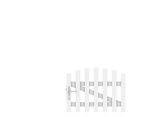 LONGLIFE CARA Tor weiß rund DIN LI (106 x 70 (80))